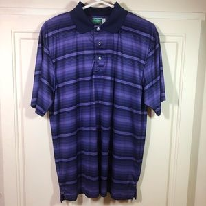 Ben Hogan Performance Men's Golf Shirt Purple Sz L